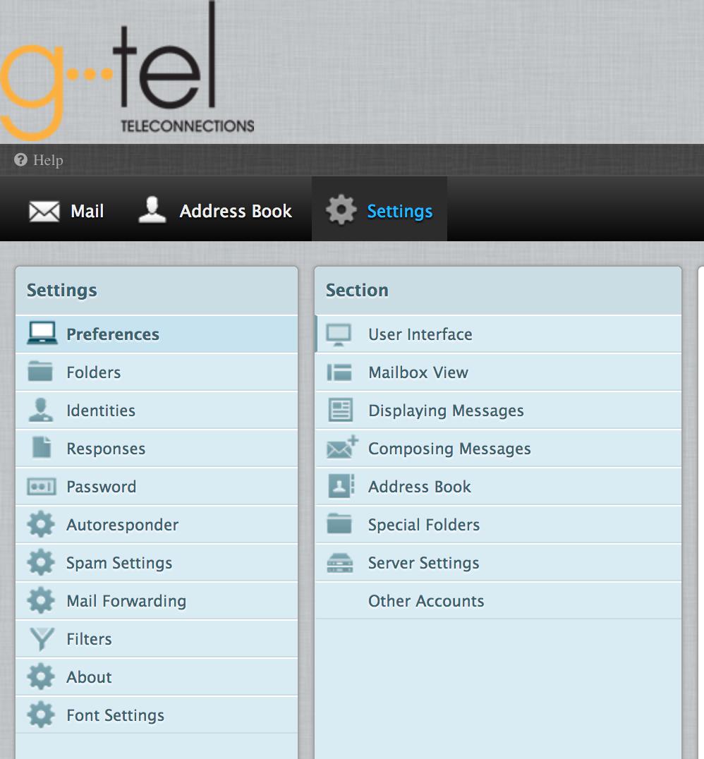 GTel Webmail